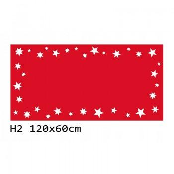 H2 120x60 cm Bieżnik obrus świąteczny z filcu na stół