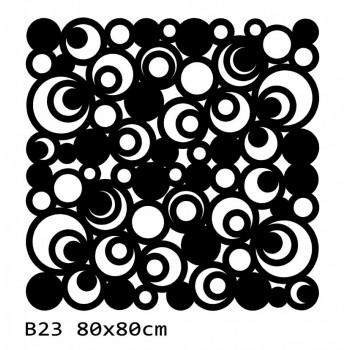 B23 80x80 cm Bieżnik obrus na stół z filcu