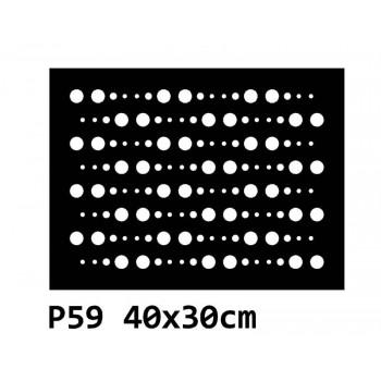 B59 40x30 cm Bieżnik obrus na stół z filcu
