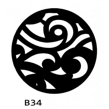 B34 FI40 Bieżnik obrus okrągły z filcu na stół