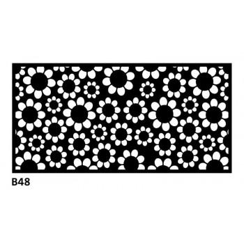 B48 100x50 cm Bieżnik obrus z filcu na stół