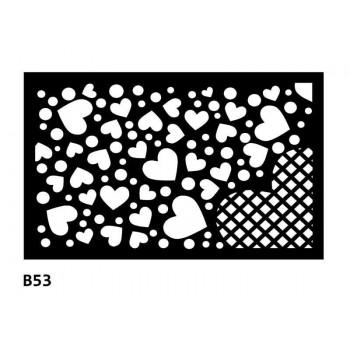 B53 80x50 cm Bieżnik obrus z filcu na stół