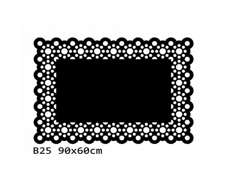B25 90x60 cm Bieżnik obrus na stół z filcu