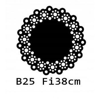 B25 FI38 Bieżnik obrus okrągły z filcu na stół