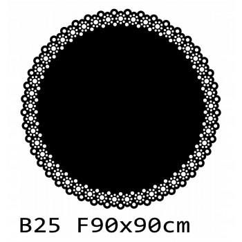 B25 FI90 Bieżnik obrus okrągły z filcu na stół