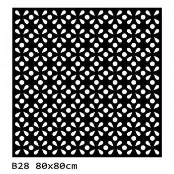 B28 80x80 cm Bieżnik obrus z filcu na stół