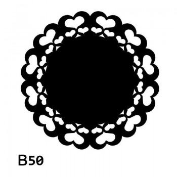 B50 FI45 Bieżnik obrus okrągły z filcu na stół