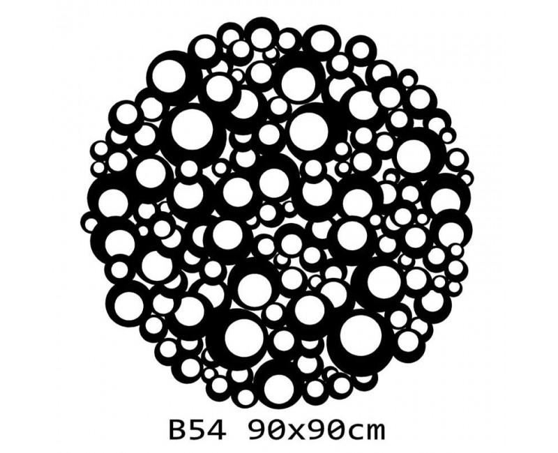 B54 FI90 Bieżnik obrus okrągły z filcu na stół