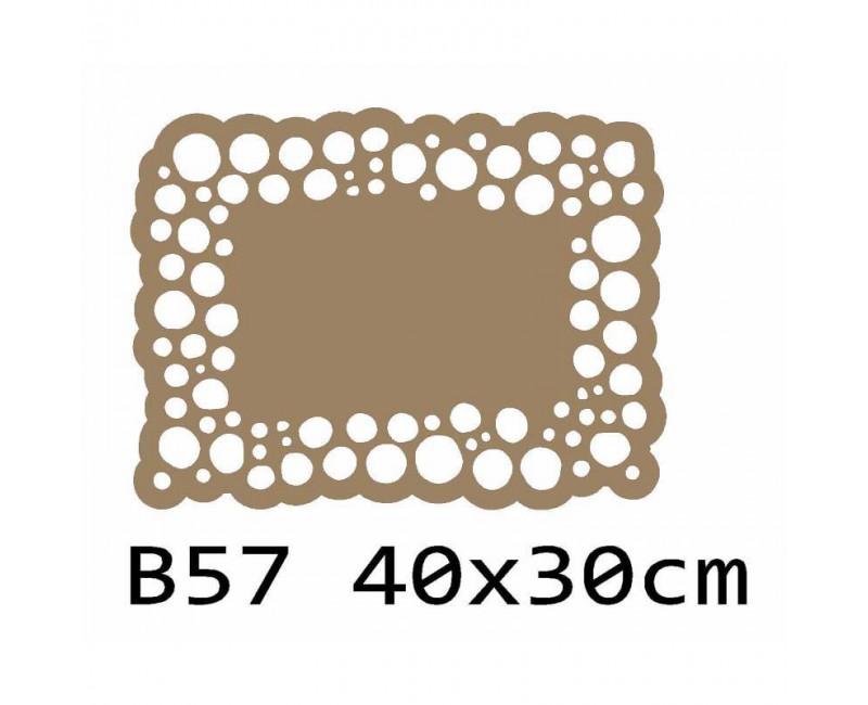 B57 40x30 cm Bieżnik obrus na stół z filcu