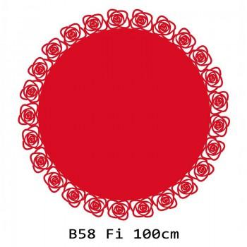 B58 FI100 Bieżnik obrus okrągły z filcu na stół