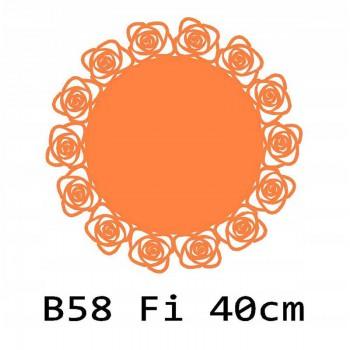 B58 FI40 Bieżnik obrus okrągły z filcu na stół