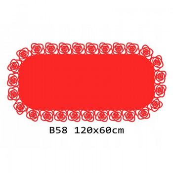 B58 120x60 cm Bieżnik obrus z filcu na stół