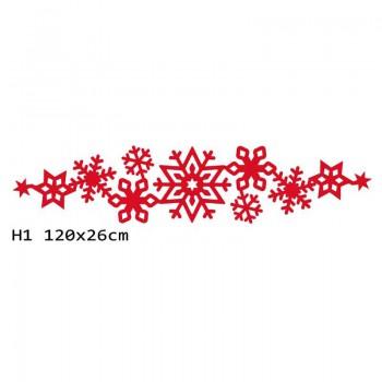 H1 120x26 cm Płatek śniegu bieżnik na stół z filcu
