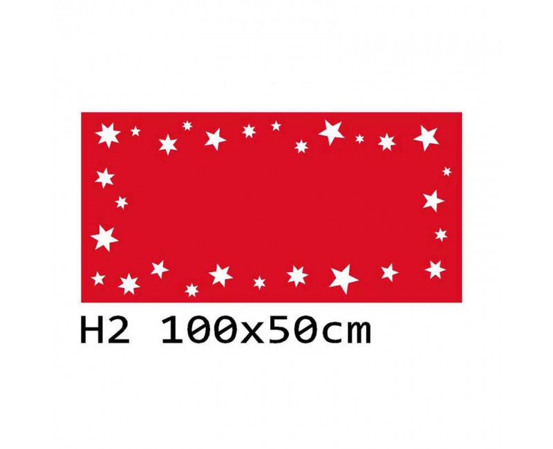 H2 100x50 cm Bieżnik obrus świąteczny na stół z filcu